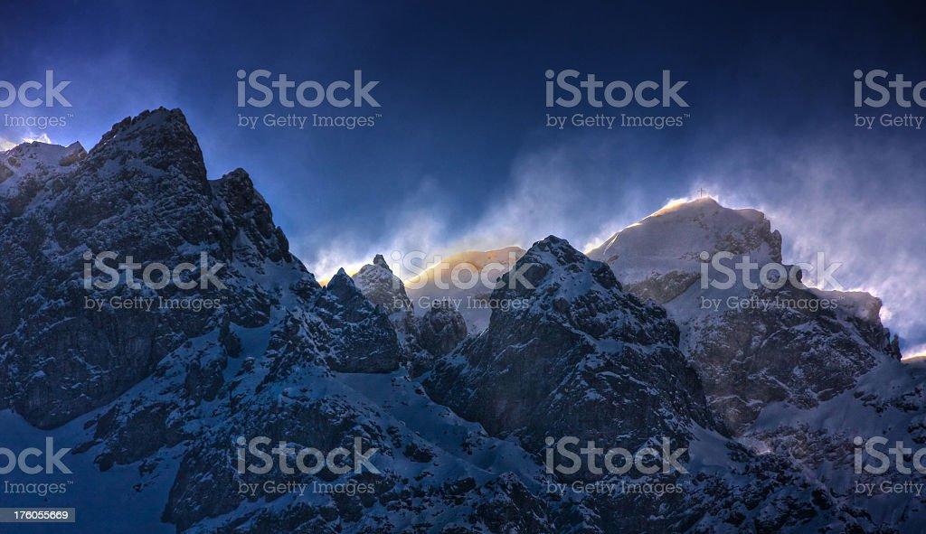 Stormy mountain stock photo
