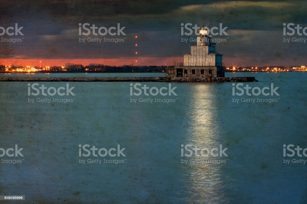 Stormy Night (Canvas) stock photo