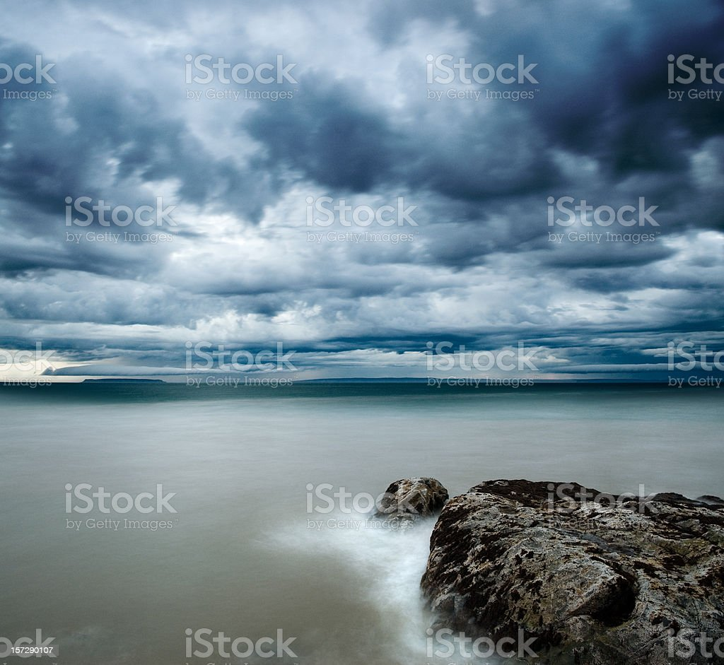 Stormy Point royalty-free stock photo