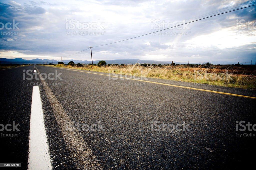 Stormy road ahead royalty-free stock photo