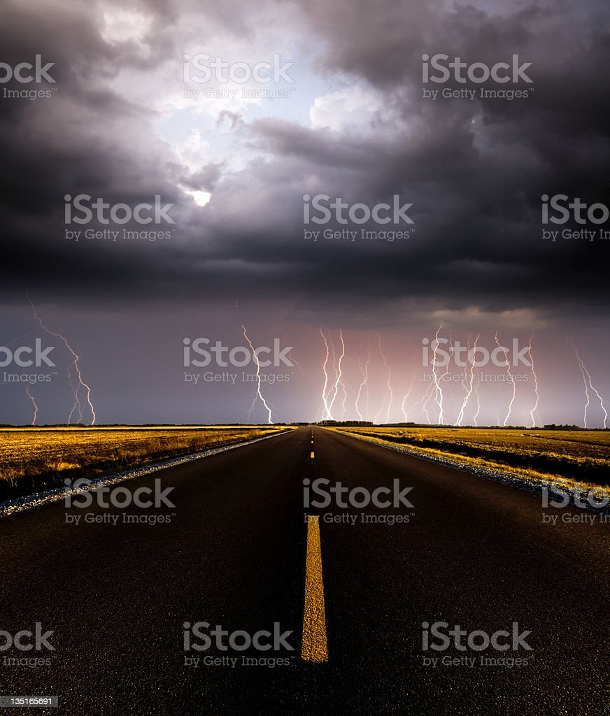 Stormy Road Ahead royalty-free stock photo