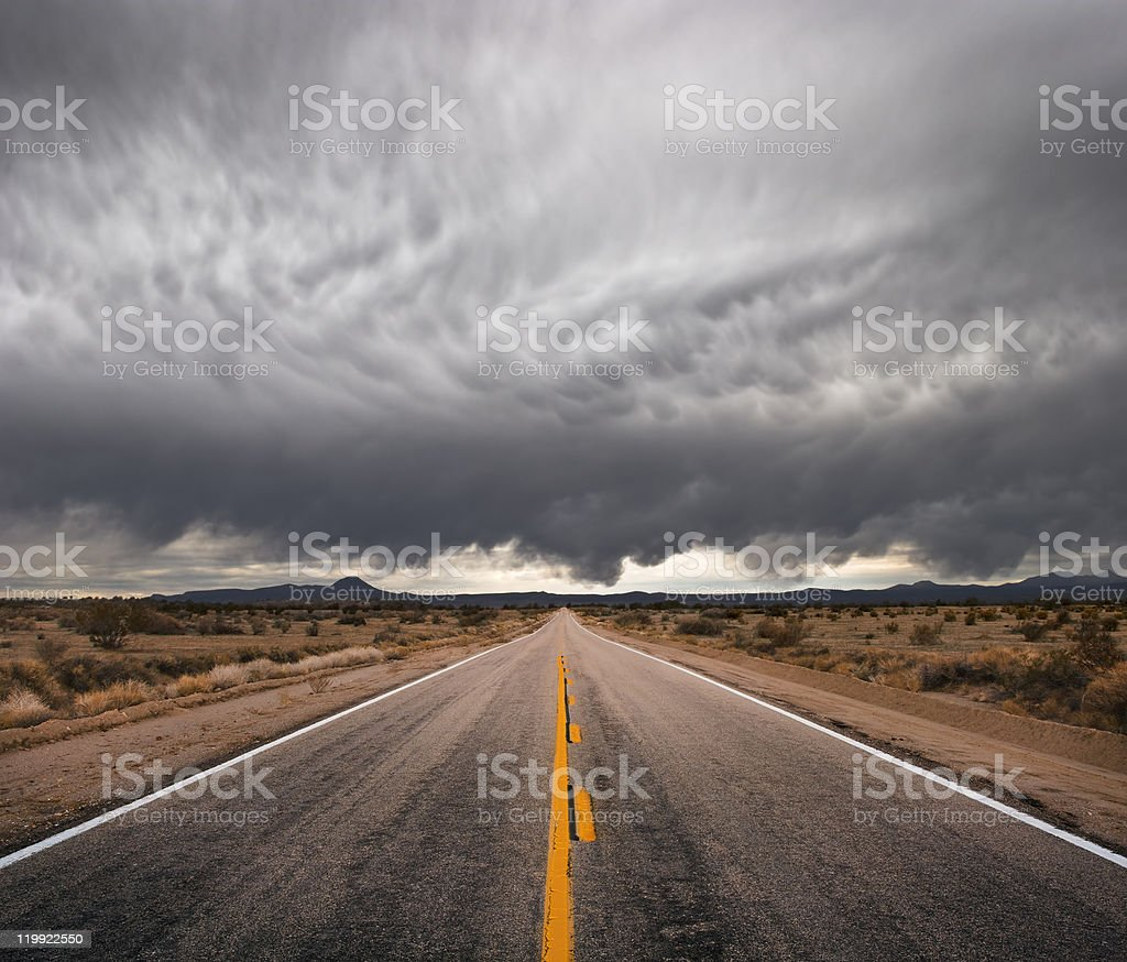Stormy Road stock photo