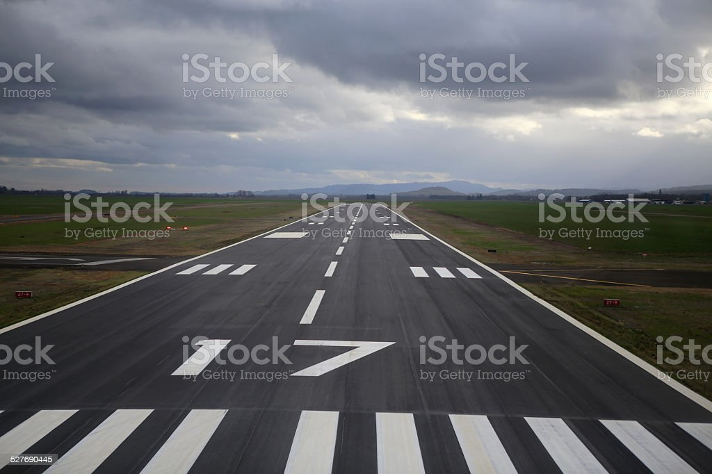 Stormy Runway stock photo