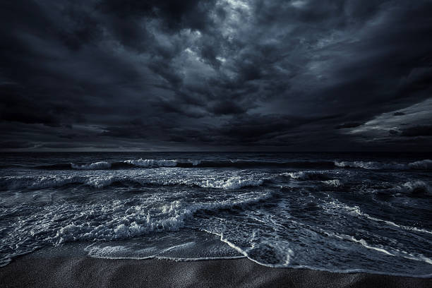 Stormy sea stock photo