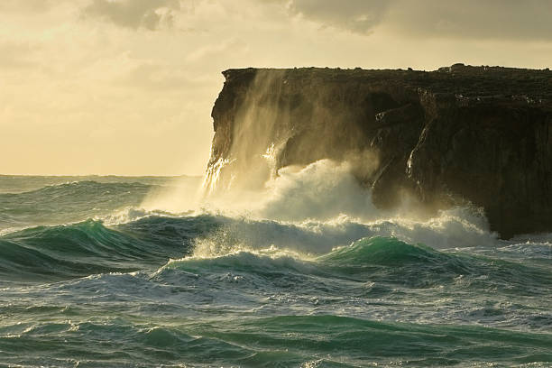 stormy sea - cliff stock pictures, royalty-free photos & images