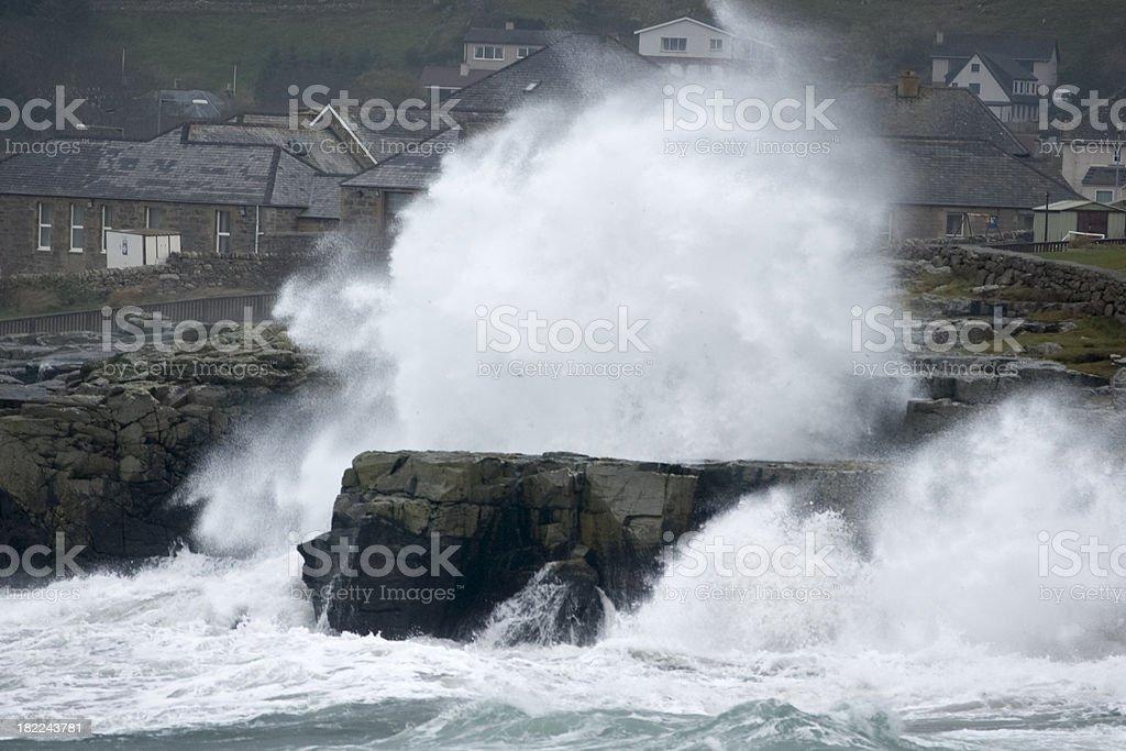 Stormy seas at Lerwick in Shetland royalty-free stock photo