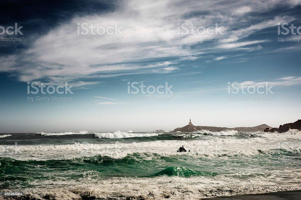Stormy seascape - foto de acervo