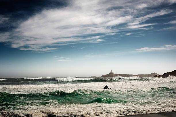 Stormy seascape stock photo
