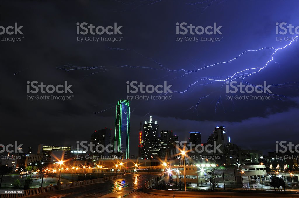 Stormy Skies over Dallas,Texas royalty-free stock photo