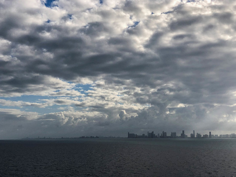 Stormy Skies Over Florida Coast In Winter Stock Photo Download Image Now Istock