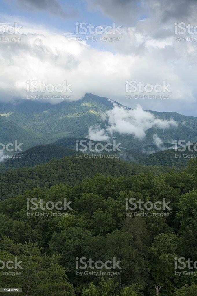 Stormy Skies over Gatlinburg, TN stock photo