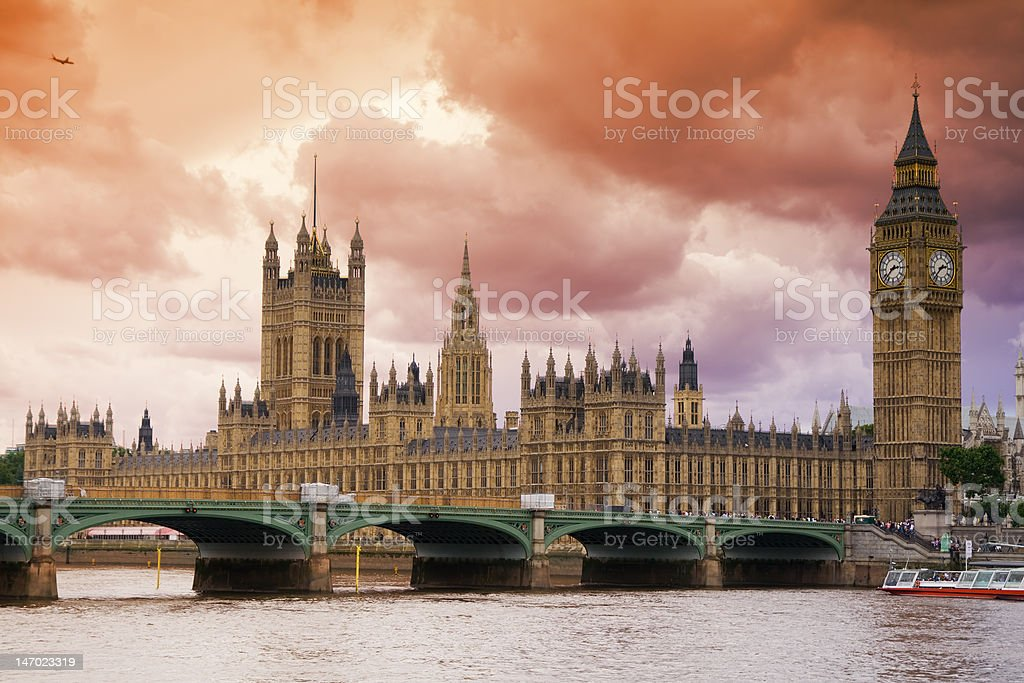 Stormy Skies over London royalty-free stock photo