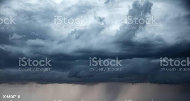 Photo of Stormy sky and rain.  apocalypse like