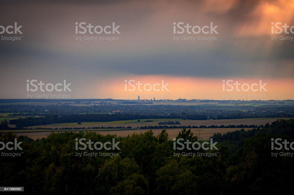 在萊比錫的暴風雨天空圖像檔