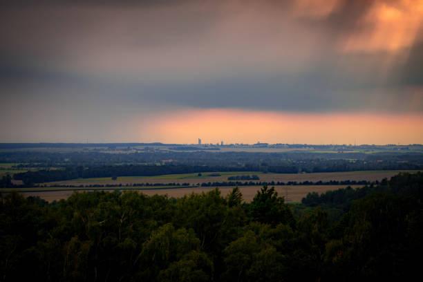 Stormy sky over Leipzig stock photo
