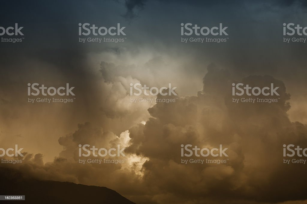 Stormy sky over the horizon royalty-free stock photo