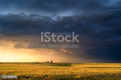 858837068 istock photo Stormy sky with dramatic clouds and sunlight 1201358443