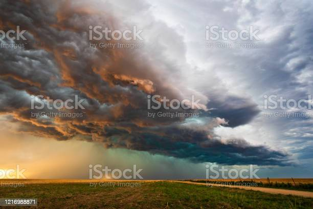 Photo of Stormy sky with dramatic clouds