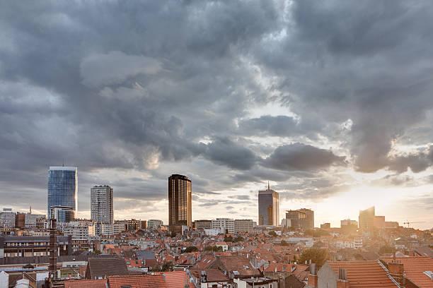 Coucher de soleil orageux sur Bruxelles - Photo
