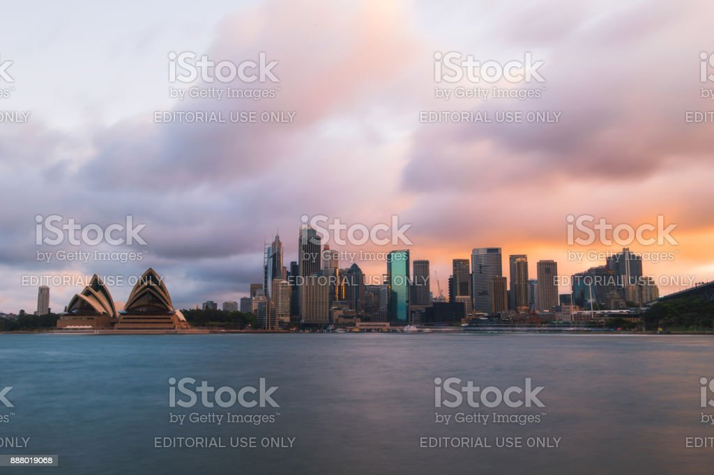 Stormy Sunset Sydney stock photo