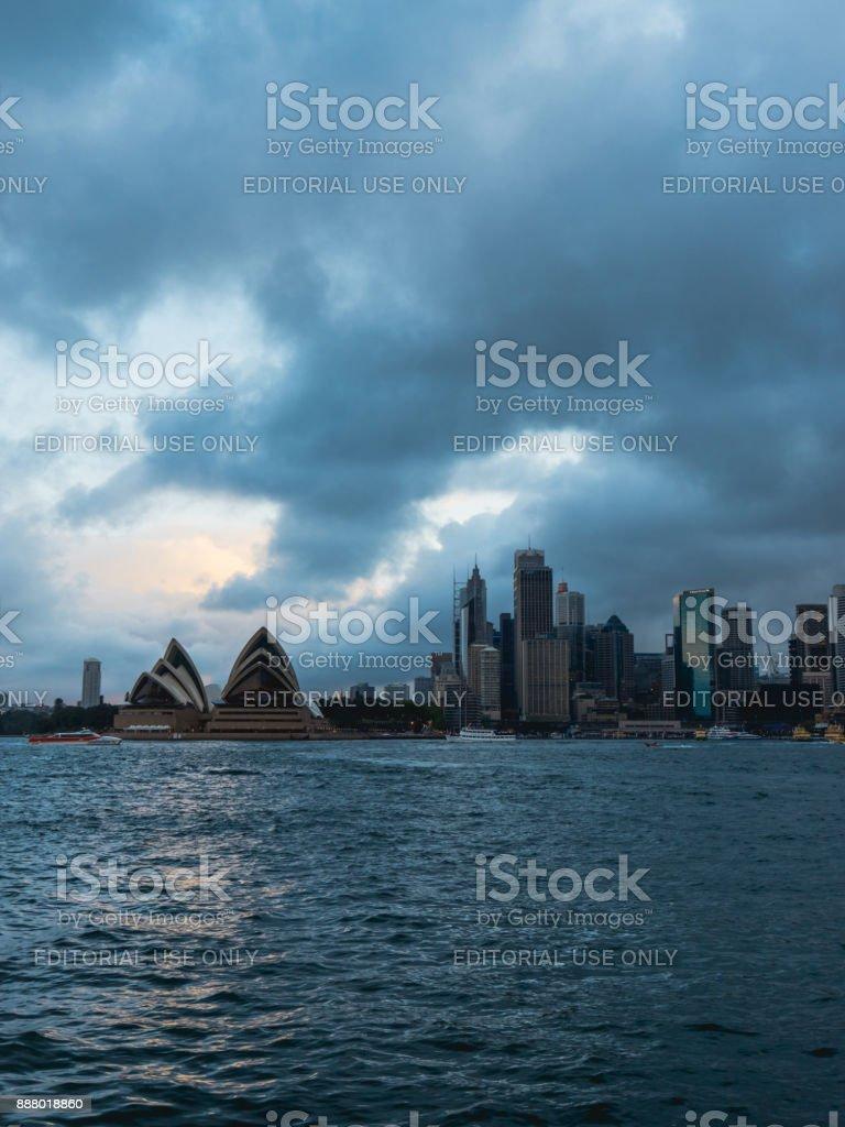 Stormy Sydney stock photo