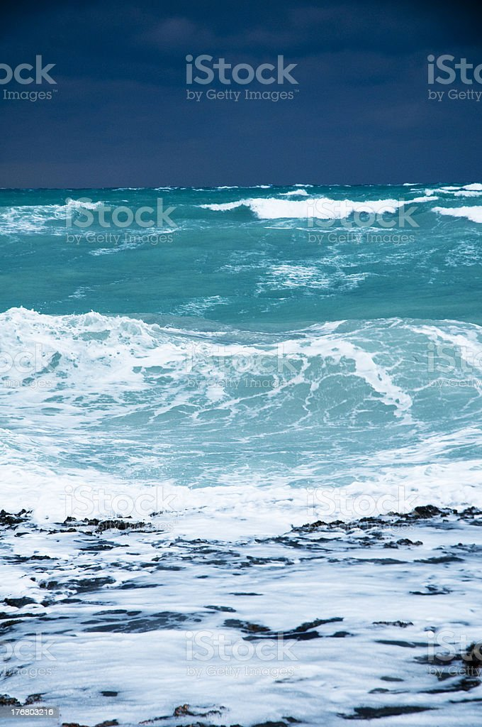 Stormy Tropical Beach royalty-free stock photo