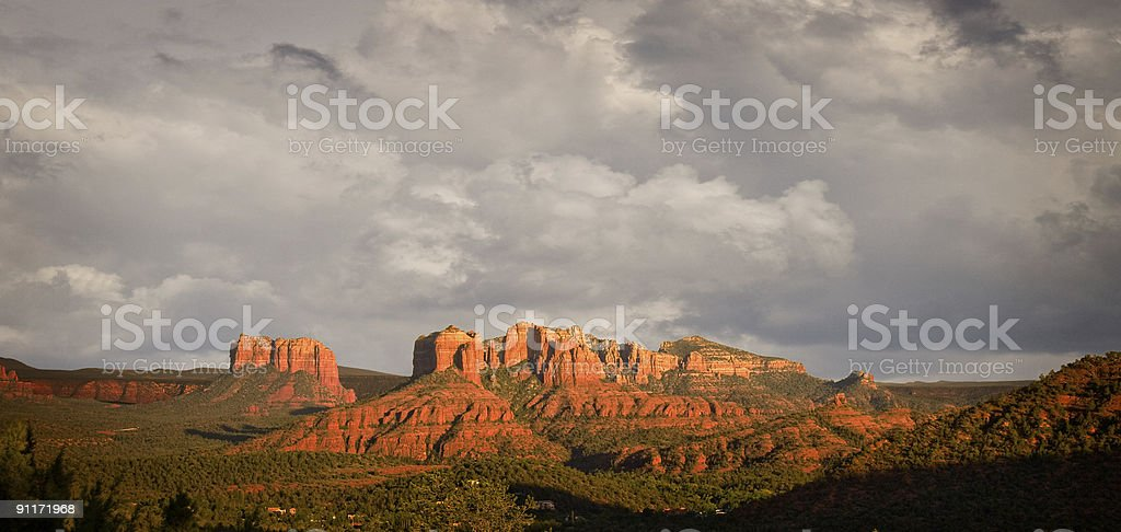Stormy view of Sedona hills royalty-free stock photo