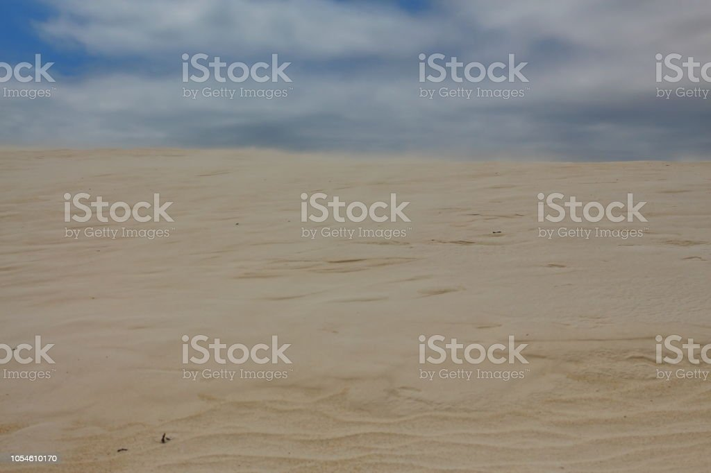 Stormy weather in the desert stock photo