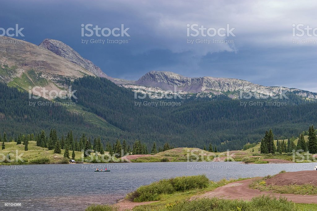 Stormy Weather In The Mountains royalty-free stock photo