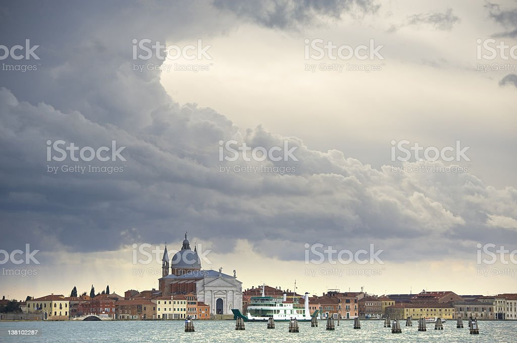 Stormy weather in Venice stock photo