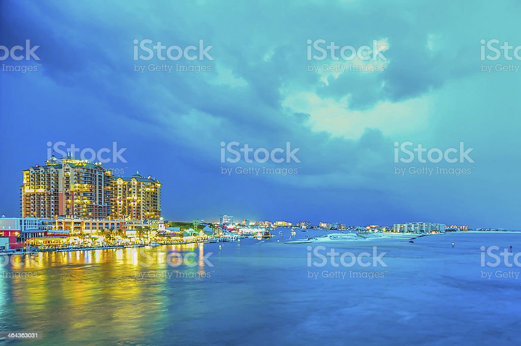 stormy weather over florida stock photo