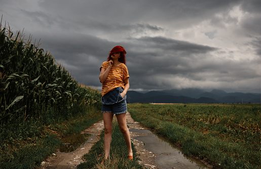 Stormy weather photo shooting