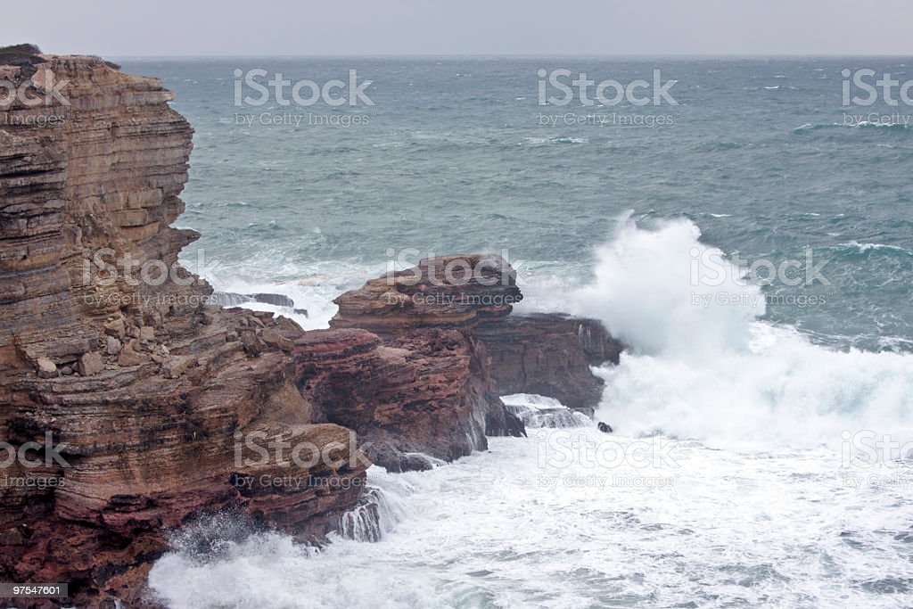 Stormy westcoast from Portugal royalty-free stock photo