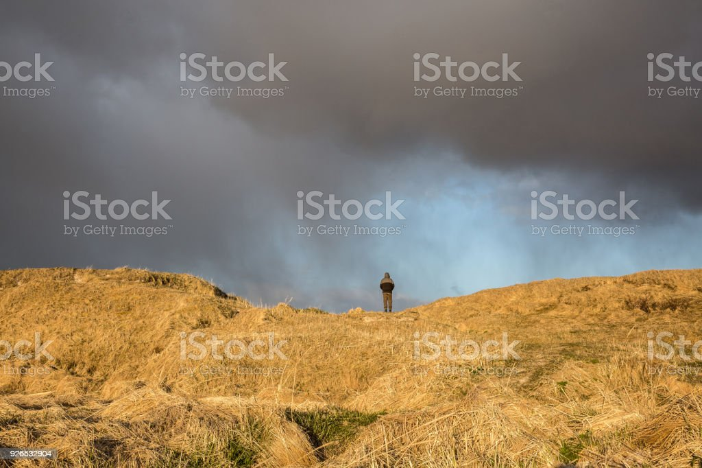 Stormy wether at Norway stock photo
