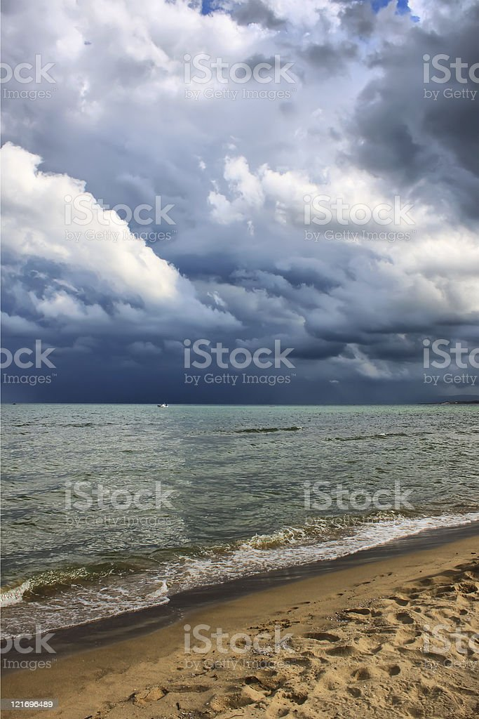 Stormy wheather royalty-free stock photo
