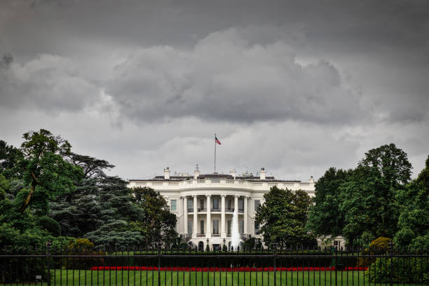 Stormy White House stock photo