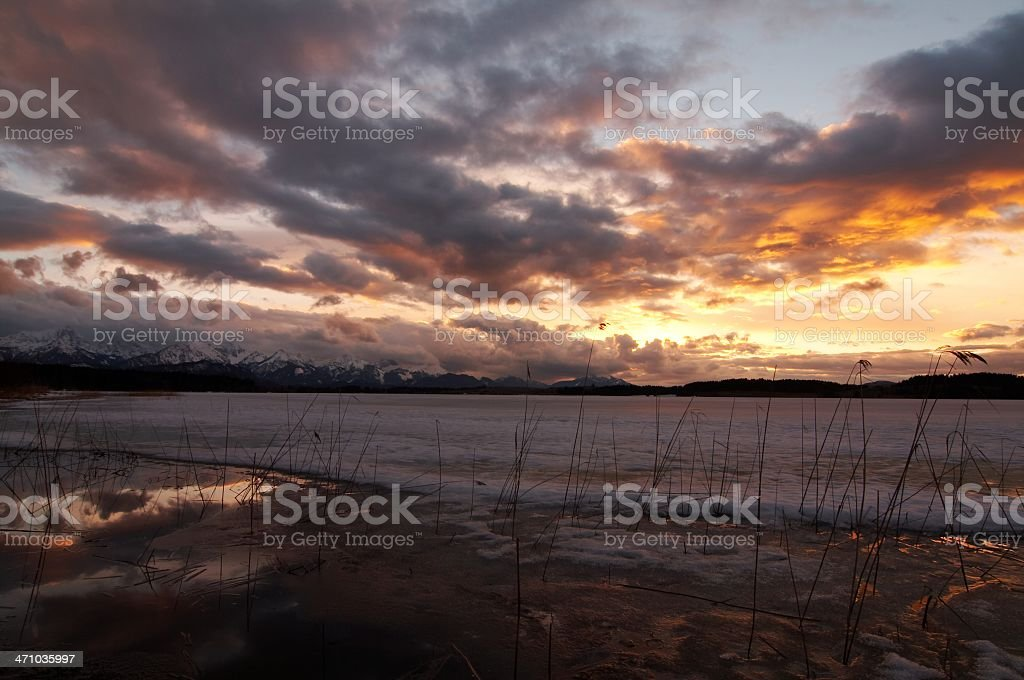 stormy winter weather royalty-free stock photo