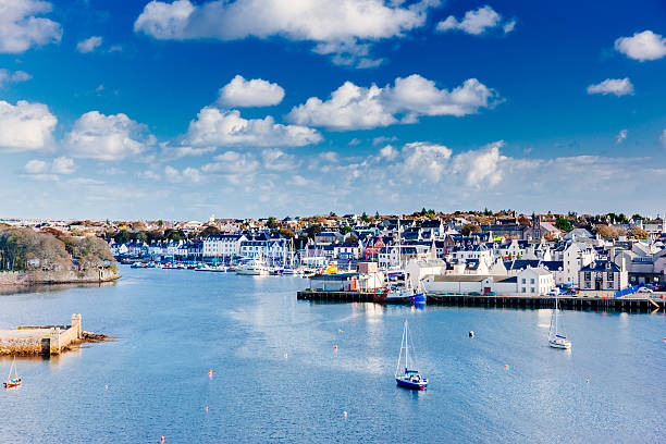 Stornoway, Scotland stock photo