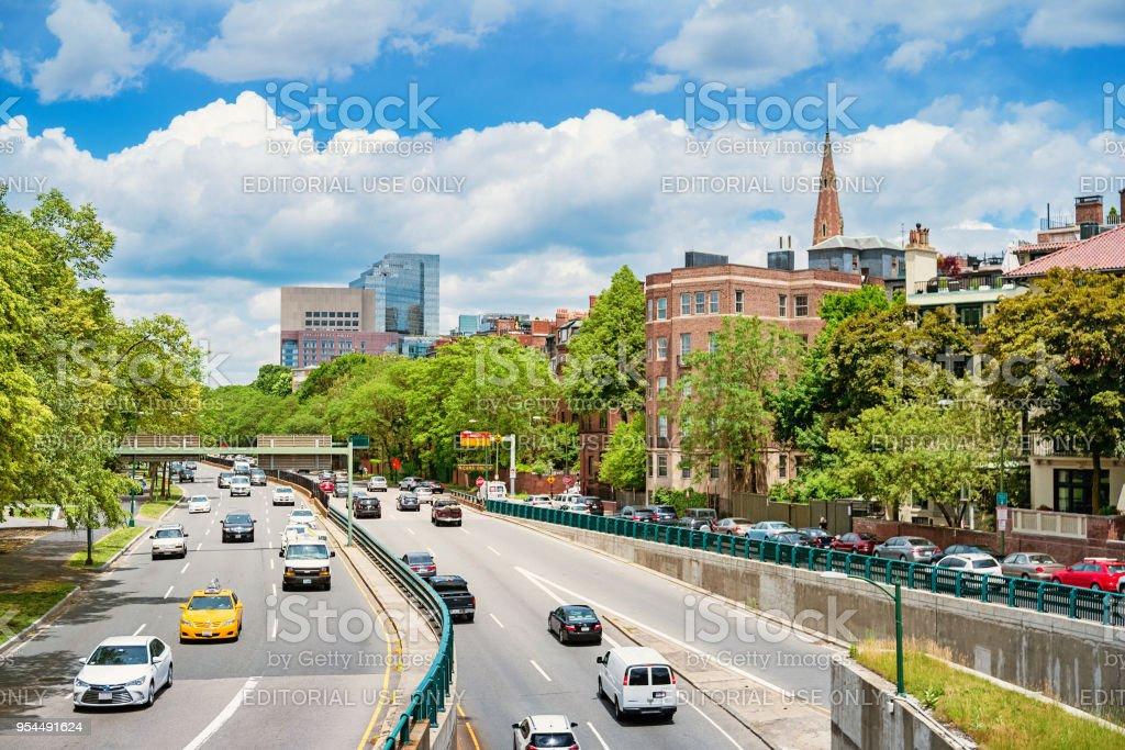 Storrow Drive in Boston Massachusetts USA stock photo