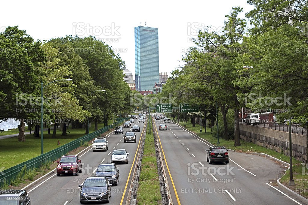 Storrow Drive in Boston royalty-free stock photo