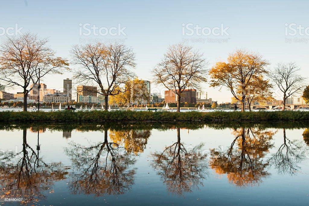 Storrow Lagoon, The Boston Embankment, stock photo