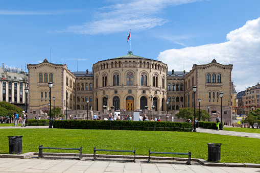 Storting Building In Oslo Stock Photo - Download Image Now