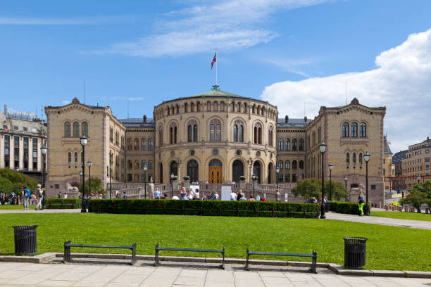 Storting building in Oslo stock photo