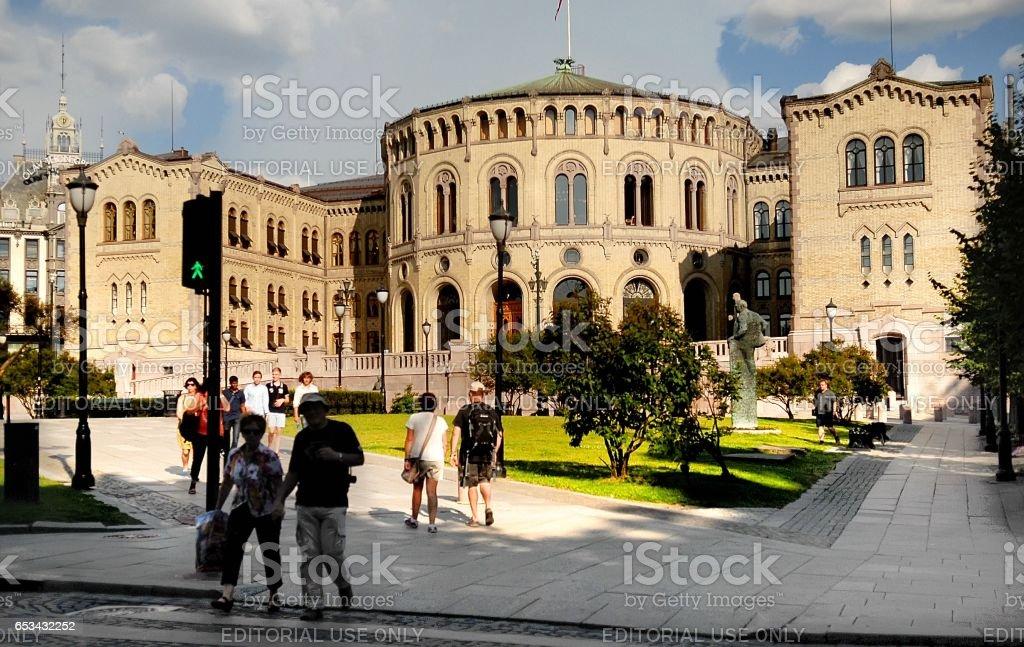 Stortinget, Parliament of Norway stock photo