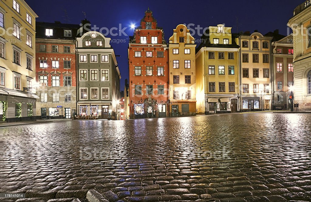 Stortorget at Christmas time stock photo