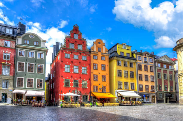 Stortorget square in Stockholm old town, Sweden Stortorget square in Stockholm old town, Sweden stockholm stock pictures, royalty-free photos & images