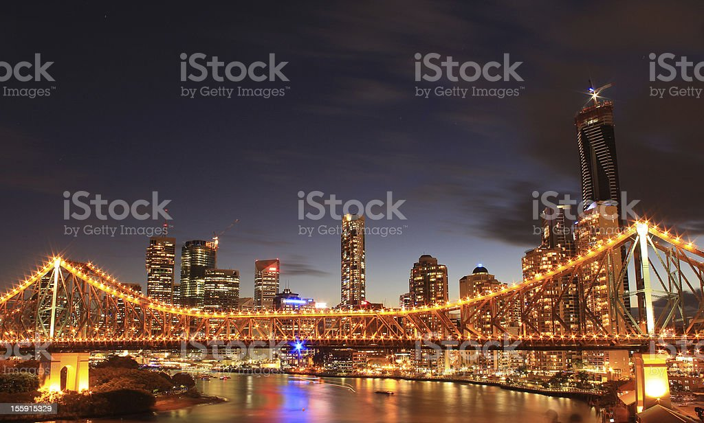 Story Bridge, Brisbane stock photo