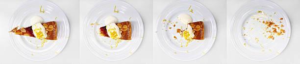 story of a cake - tallrik uppätet bildbanksfoton och bilder