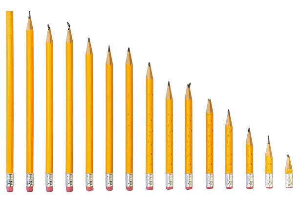 story of ordinary pencil - pencil stock photos and pictures