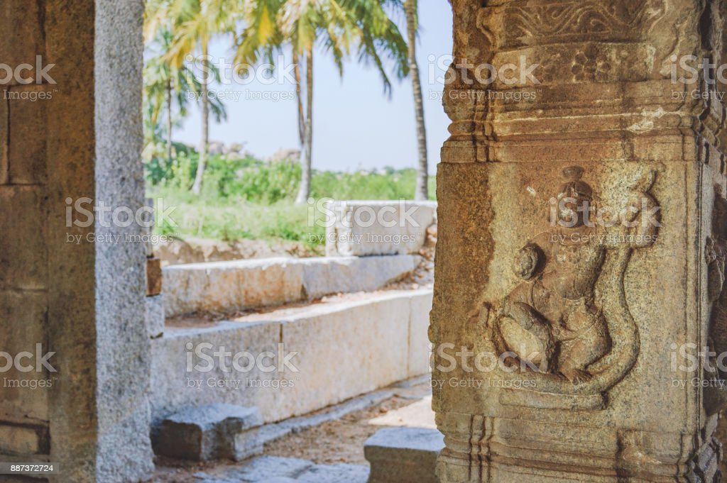 Story of Ramayana in the ruins of Hampi, India stock photo